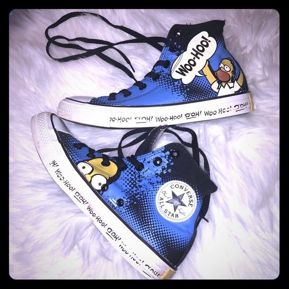 f5fbe8b8b9ce0e Converse Shoes - CONVERSE x The Simpsons Homer Hi-Top All Star Sz 8